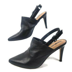 Tahari Pumps Womens 8.5 Black Leather